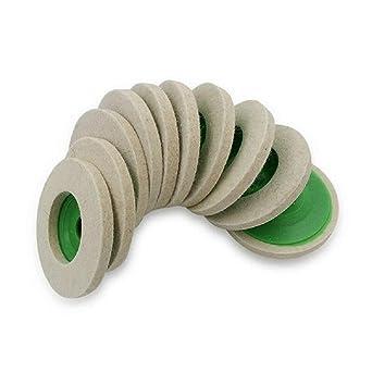 10Pcs 100Mm 4 Inch Wool Buffing Round Polishing Wheels Pads Polisher C6B5 2X