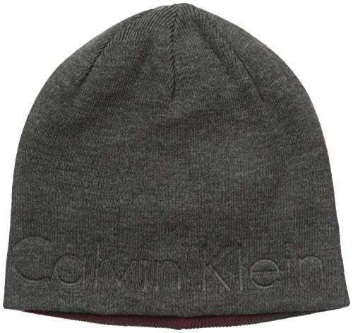 e40542f7afc0bf Galleon - Calvin Klein Men's Embossed Logo Beanie, Charcoal, One Size
