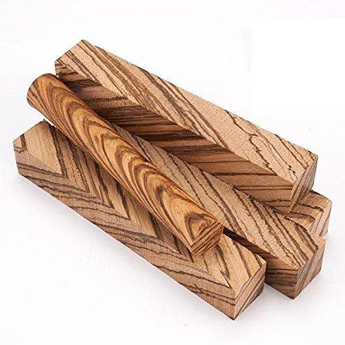 Diagonal Cut Zebrawood Pen Blank - Zebrawood Pen