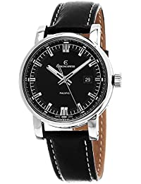 Grand Pacific Automatic Stainless Steel Mens Strap Watch Calendar CH-2883B-BK/31-1