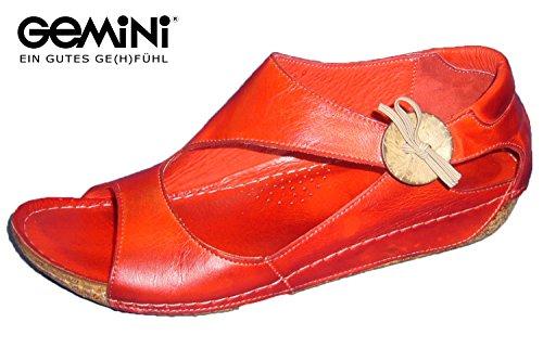 Gemini Damen Sandale Leder Rot 32029