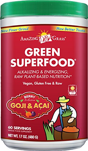 Amazing Grass Green SuperFood Berry, 60 Servings, 17 Ounces (Berry Healthy Drink Mix)