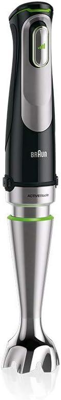 1000 Watt nero Braun MutiQuick 9 MQ 9097X set di 6 accessori Frullatore a immersione con base in acciaio inox rimovibile con tecnologia ActiveBlade per passare gli ingredienti pi/ù duri