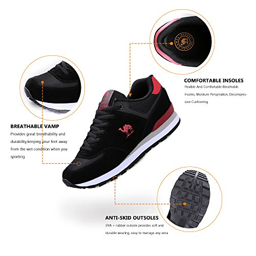 Gym Mens Black Camel Running Shoes Trail Fashion Athletic Shoes Sneakers Breathable Casual Sport qdvTf4w