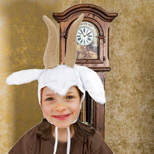 Sombrero de los niños de cabra cuentos de animales blanco Accesorio de  cabeza de cabra cabras Carnaval  Amazon.es  Juguetes y juegos f4a63caa0e7