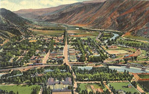Colorado River And Roaring Fork Valley Glenwood Springs Original Vintage - Valley Glenwood
