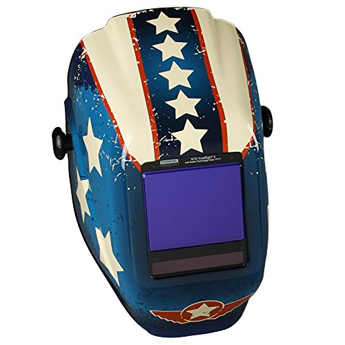 Jackson Safety TrueSight II Digital Auto Darkening Welding Helmet with Balder Technology (46118), W70 HLX ADF, Stars & Scars, 1 / (Best Welding Helmet With Truesight Digital)