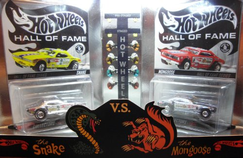 Hot Wheels RedLine Club Release Limited Edition Numbered 05506 of 10000 Hall Of Fame The Snake vs The Mongoose Tom McEwen Don Prudhomme Funny Car Set
