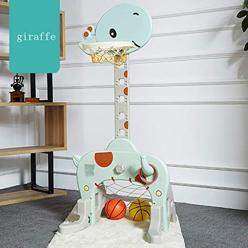 (GJH-Basketball stand - Children's Indoor Cartoon Giraffe Modeling Basketball Stand Nursery Kindergarten Public Entertainment Facilities (Color : B))