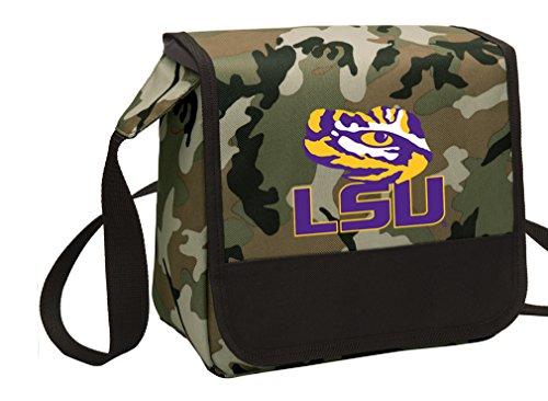 Broad Bay Camo LSU Tigers Lunch Bag Shoulder LSU Lunch Boxes