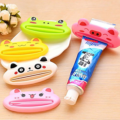 Price comparison product image Generic Multifunction Funny Automatic Toothpaste Machine Rolling Cute Cartoon Toothpaste Squeezing Device Cleansing Cream Squeezer Roller