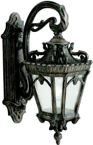 Kichler 9356LD, Tournai Aluminum Outdoor Wall Sconce Lighting, 150 Total Watts, Londonderry