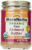 MaraNatha Organic Raw Almond Butter, No Salt, Creamy, 12 oz