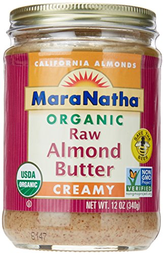MaraNatha Organic Raw Almond Butter, No Salt, Creamy, 12 oz