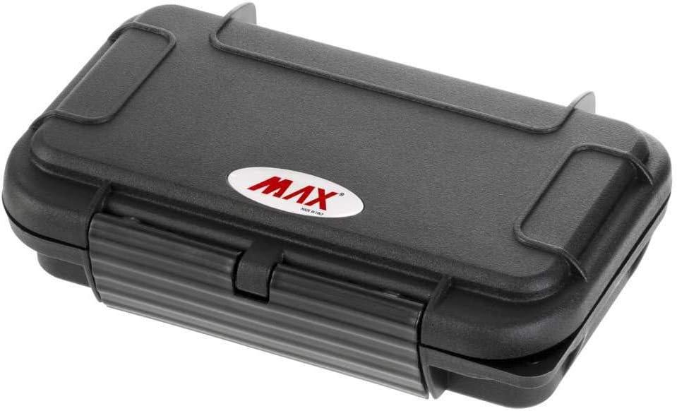 Max MAX001S Caja de herramientas con clasificaci/ón IP67 que proporciona la m/áxima protecci/ón a todos tus objetos personales negro