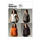 Butterick Ladies Easy Sewing Pattern 5891 Tops & Jackets
