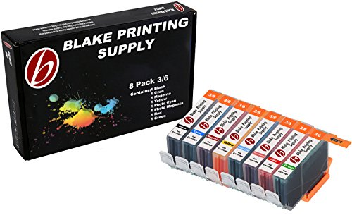 8 Pack Blake Printing Supply BCI6 Ink Cartridges for Canon PIXMA iP8500 i9900