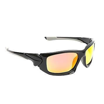 228ea3361578db Wantdo Incassable Polarisé Lunettes de Soleil de Sport UV 400 TR 90  Incassable Cadre Lunettes de