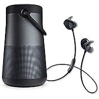 Bose SoundLink Revolve+ Speaker & SoundSport Wireless In-ear Headphones - Bluetooth Bundle - Black