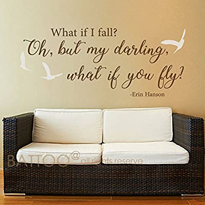 Amazoncom Battoo What If I Fall Wall Decal Love Vinyl Lettering