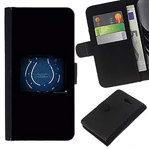 U NFL - la tarjeta de Crédito Slots PU Funda de cuero Monedero caso cubierta de piel Para Sony Xperia M2