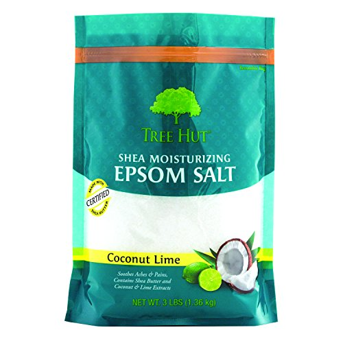 Tree Hut Shea Moisturizing Epsom Salt, Coconut Lime, 3 lb...