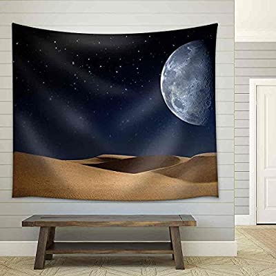 Desert on The Night, Abstract Natural Backgrounds - Fabric Wall Tapestry Home Decor - 51x60 inches
