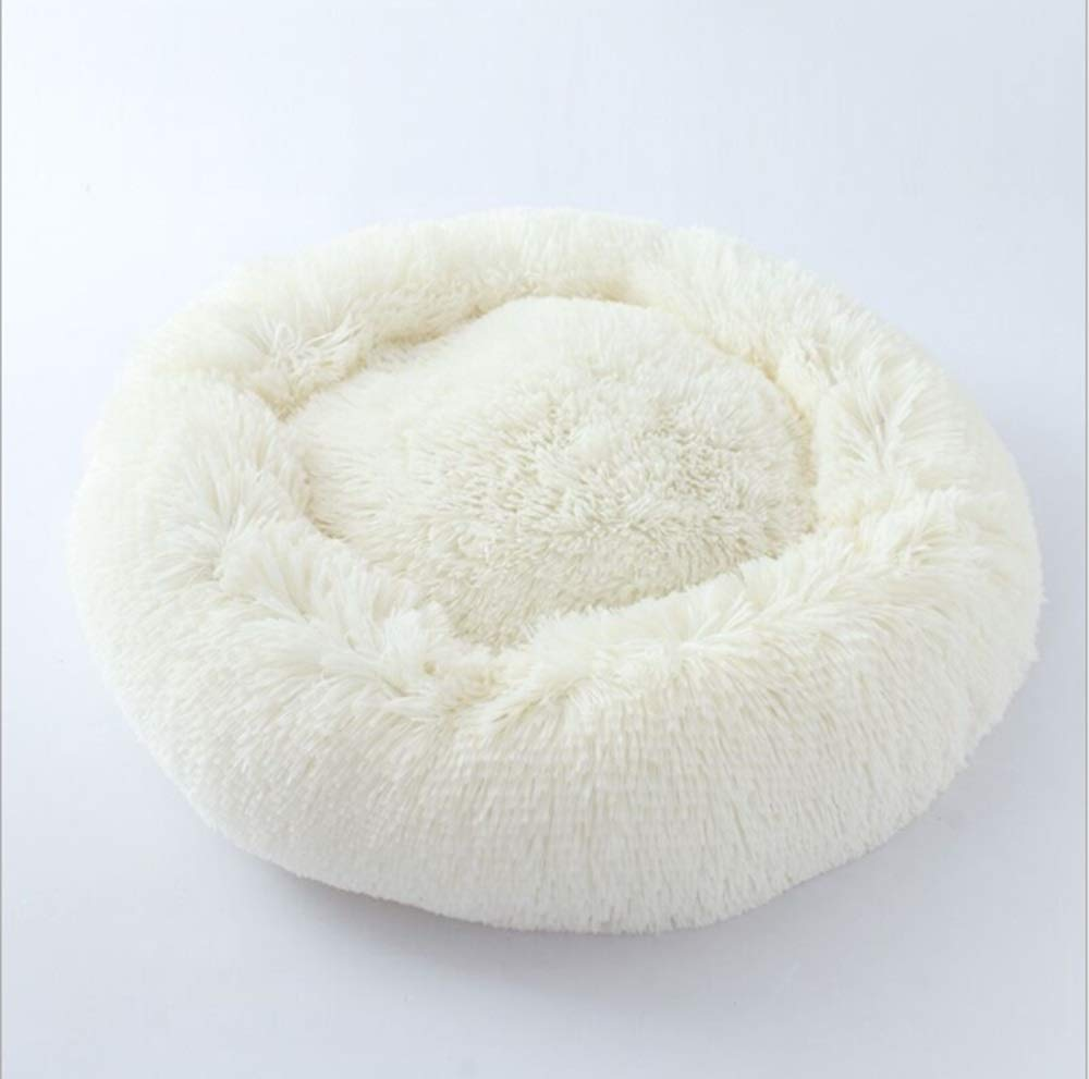 Milky White Pet Supplies Pet Nest Pet Tent Cat Litter Cat Bed Portable Dog Nest Autumn And Winter Cat Bed Soft Kennel (color   Milky white)