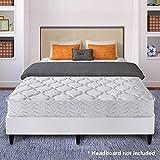 Best Price Mattress 8″ Pocket Coil Spring Mattress & New Innovative Steel Bi-Fold Box Spring/Platform Bed Set, Twin
