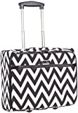 Ever Moda Chevron Rolling Wheeled Laptop Case (Black)