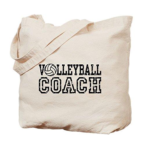 CafePress - Volleyball Coach - Natural Canvas Tote Bag, Clot