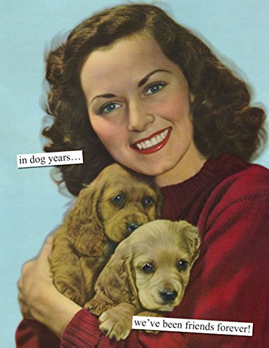 (Anne Taintor Happy Birthday Greeting Card - In Dog Years.We've Been Friends Forever.)