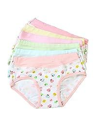 Girls' Bikini Briefs Underwear Super Soft Panties 5 -Pack