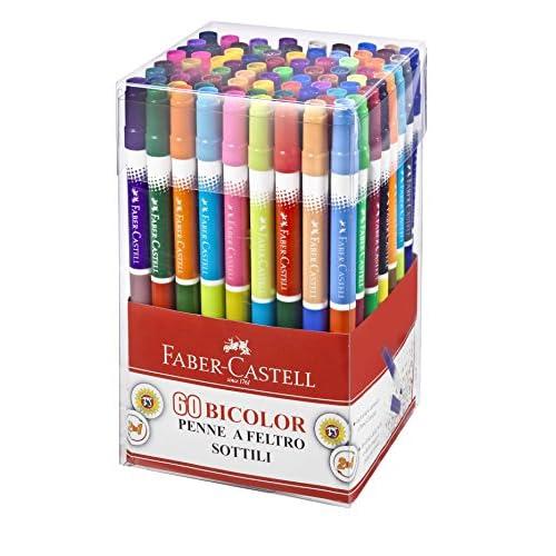 Faber-Castell 15060698060Lot de 60feutres