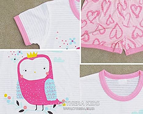 CYTHERA Baby Boys Soft Owl Pajama Set