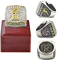2020 Fantasy Football Championship Ring Trophy Prize Official Version with Wooden Box Replica Heavy FFL Alloy