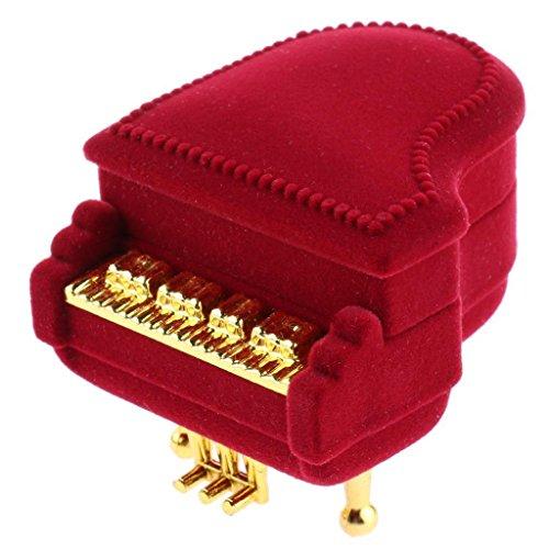 (TOOGOO Velvet Piano Ring Box Earring Pendant Jewelry Treasure Wedding Gift)