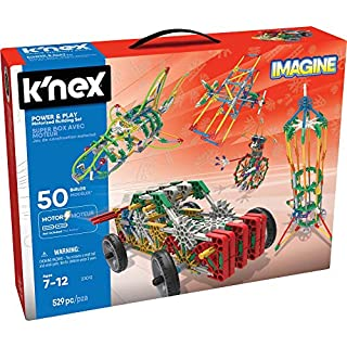 K'NEX Imagine – Power and Play Motorized Building Set – 529 Pieces – Ages 7 and Up – Construction Educational Toy