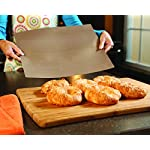 """YOSHI GRILL & BAKE MATS (2 Pack), Copper 15 100% non stick - food slides right off! Contains 2 mats for grilling and/or baking - each measure 15. 75"""" x 13"""" Infused with real Copper, PFOA free and can withstand heat up to 500 degrees"""