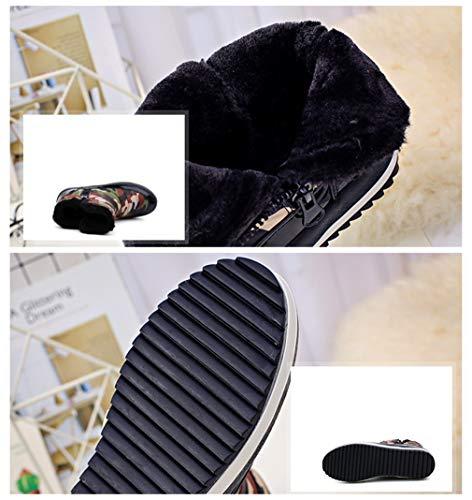 Fourrure Anti Imperméable Baskets Bottes Femmes dérapant Neige Eu35 D'hiver Au Plat Doublées Daim 40 En De 4 Chaud Hibote Occasionnels qfSBnXS