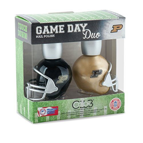 Set Boilermaker College (PURDUE BOILERMAKERS GAME DAY DUO NAIL POLISH SET-PURDUE UNIVERSITY NAIL POLISH-INCLUDES 2 BOTTLES AS SHOWN)