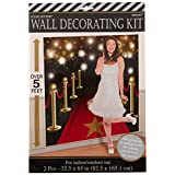 """Amscan Party Supplies, Hollywood Wall Dece Kit, Party Decorations, 65"""" X 32 1/2', Multicolor, 2Ct"""