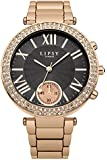Lipsy Women's Quartz Watch with Grey Dial Analogue Display and Rose Gold Alloy Bracelet LP466