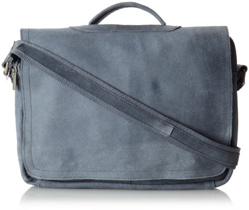 David King & Co. Porthole Briefcase Distressed, Grey, One Size ()
