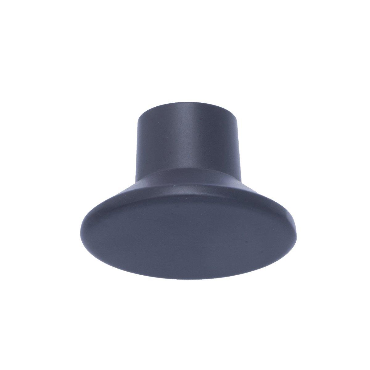 confezione da 10 Cromo lucido Pomolo tondo piatto per mobili Diametro: 3,66 cm Basics