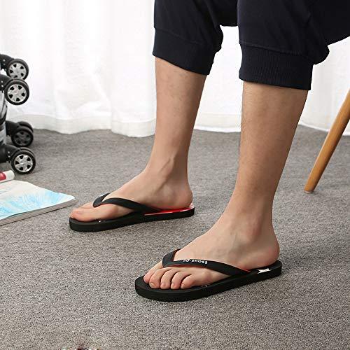 De Flops Negro Zapatillas Americana Sandalias Deslizamiento Anti Zapatos Flip ALIKEEY Playa Bandera Hombres 1qwfvf