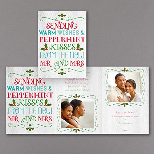 625 Mint - 625pk Peppermint Kisses - Photo Holiday Card-Newlywed Designs