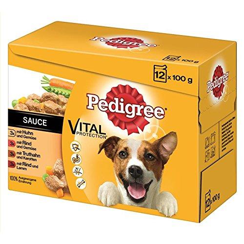 Pedigree Adult in Sauce Multipack 4x 12x100g Hundefutter nass