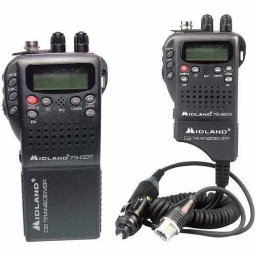 Midland Radio 75-822 Portable Mobile CB Radio, Large LCD Display, Keypad Lock, Plug and Play, Rugged Construction, Up To 40 Channels