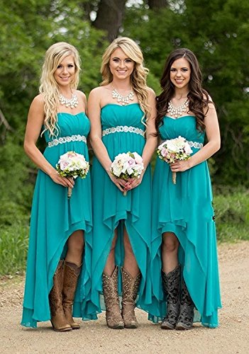 for Elegant Prom Strapless Gowns Low Women Dreagel Bridesmaid Dresses Hi Navy 7qXZgxw8